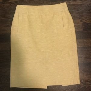 Banana Republic Yellow-Green Pencil Skirt | 2